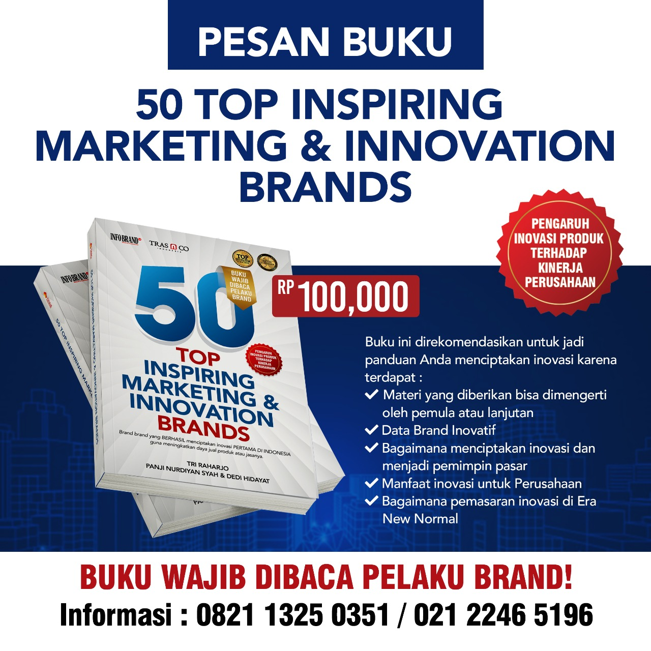 Buku 50 TOP INSPIRING MARKETING & INNOVATION BRANDS