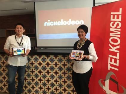 Nickelodeon dan Telkomsel Meluncurkan Aplikasi