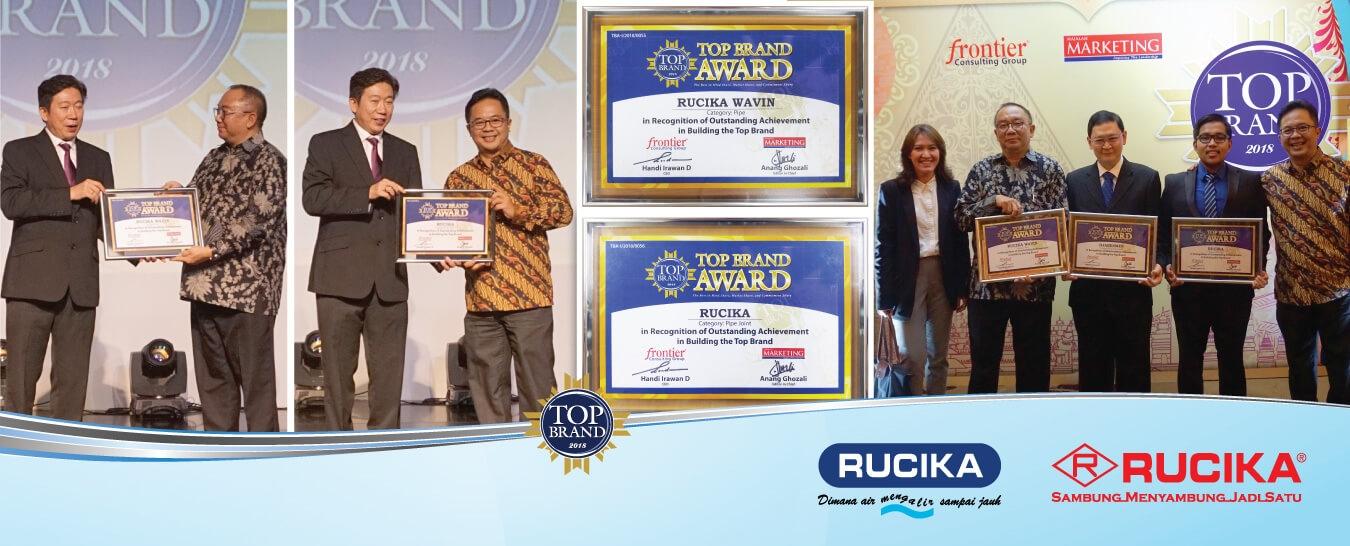 Rucika Raih Penghargaan Top Brand 2018