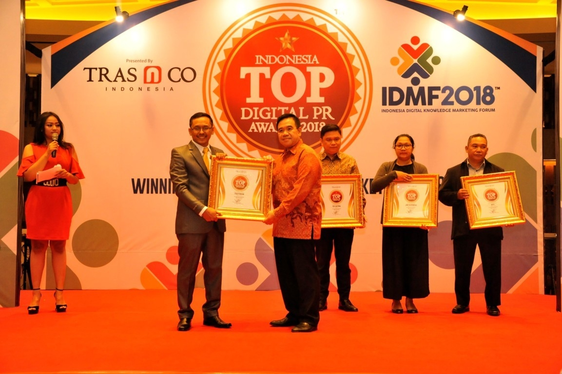 PT Pertamina Lubricants Raih Indonesia Top Digital PR Award 2018