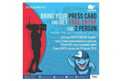 Sambut Hari Pers Nasional 2019, Wartawan Gratis Masuk SnowBay TMII