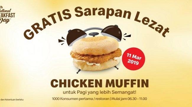 Promo McDonalds:  1.000 Chicken Muffin Siap Dibagikan Gratis