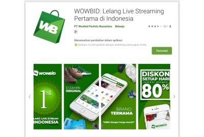 Ingin Lelang Belanjaan Via Live Streaming, Kini Ada Aplikasi WOWBID