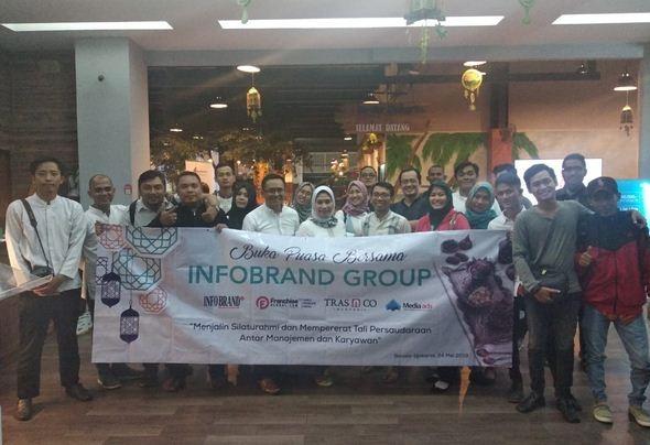 Tingkatkan Kebersamaan, INFO BRAND GROUP Gelar Buka Puasa Bersama