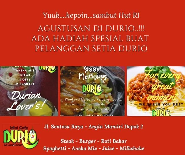 Mendulang Konsumen, Sop Durian Durio Kini Hadir dengan Banyak Varian Menu
