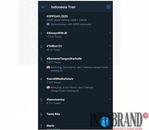 Viral, #zeroKMtothefuture Ramaikan Trending Topik Twitter Hari Ini