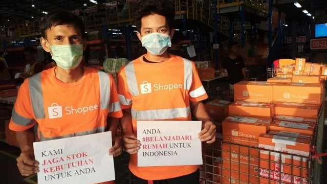 Garda Terdepan Shopee Pastikan Keamanan Kebutuhan Pengguna, Pengguna Dapat #BelanjaDariRumah