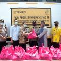 Ringankan Beban Masyarakat, Tekiro Tools bekerjasama dengan Polsek Metro Penjaringan bagikan Ribuan Paket Sembako