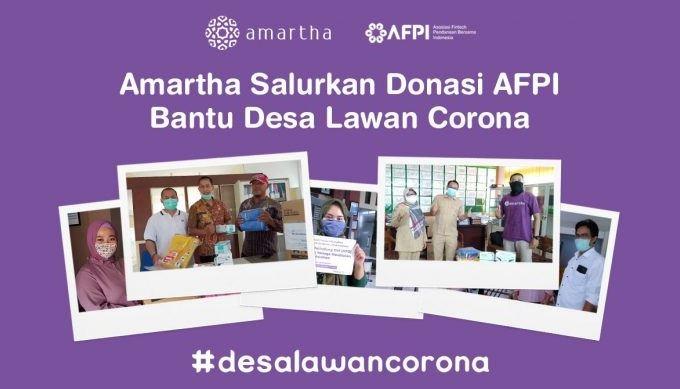 Amartha Salurkan Donasi AFPI Bantu Desa Lawan Corona