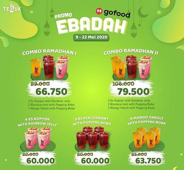 Minuman Kekinian 'Teguk' Gelar Promo #eBadah, Cuma Berlaku di Gofood ya!