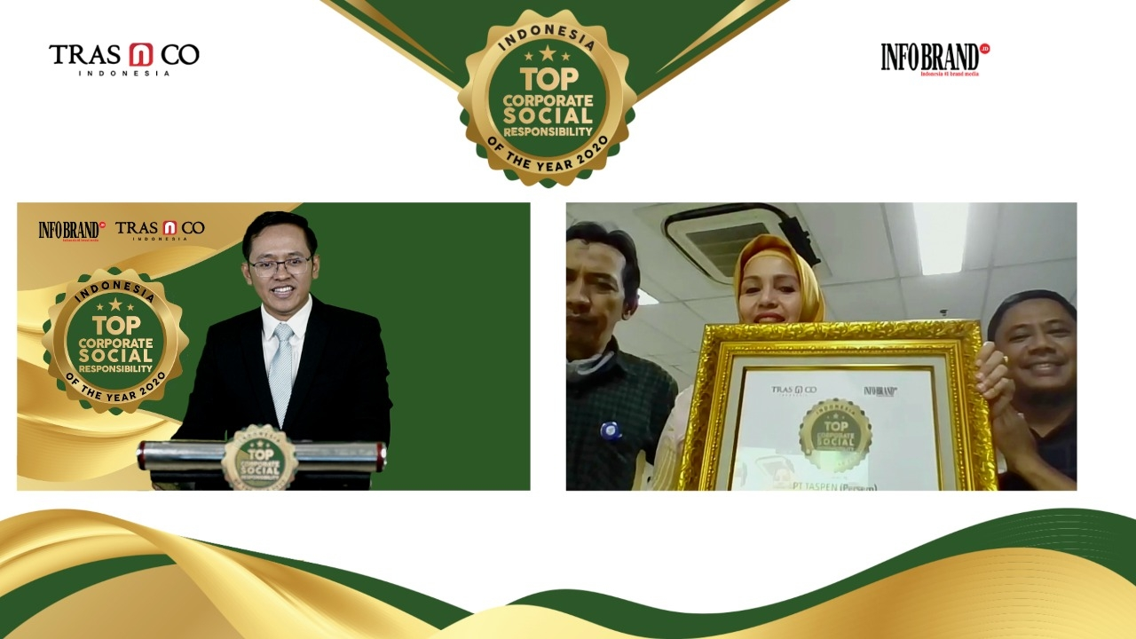 Salurkan Bantuan COVID-19 dari Sabang Sampai Merauke, Taspen Didapuk Penghargaan Indonesia Top Corporate Social Responsibility of the year 2020