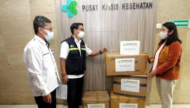 Bantu Atasi Penyebaran Pandemi, Herbalife Nutrition Salurkan Bantuan APD
