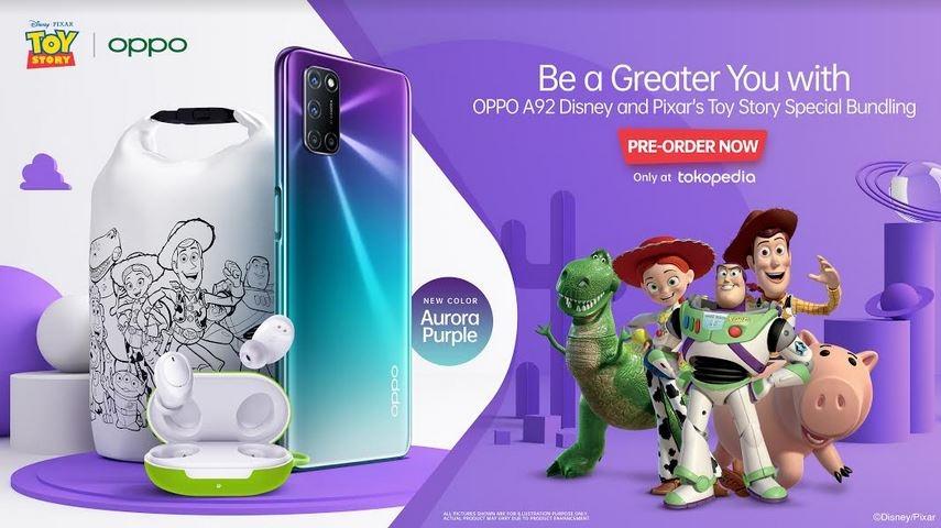 Hari ini, OPPO A92 Disney and Pixar's Toy Story Bundling Edition Mulai Dijual di Tokopedia