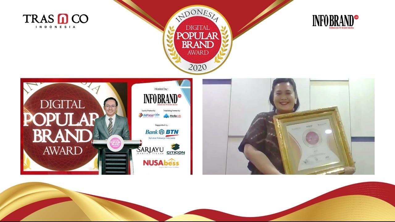 Aice Raih Penghargaan Indonesia Digital Popular Brand Award 2020