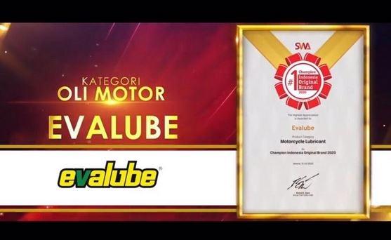 Evalube Kembali Berjaya di Indonesia Original Brand Award