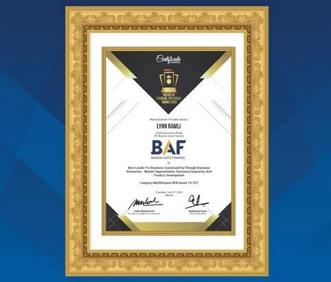 BAF Raih Penghargaan Indonesia Financial Top Leader Award 2020