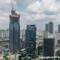 ACSET Topping Off Gedung Tertinggi di Indonesia