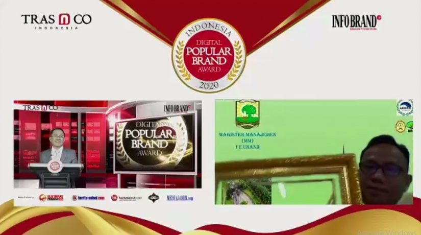 Magister Manajemen Universitas Andalas Raih Indonesia Digital Popular Brand Award 2020