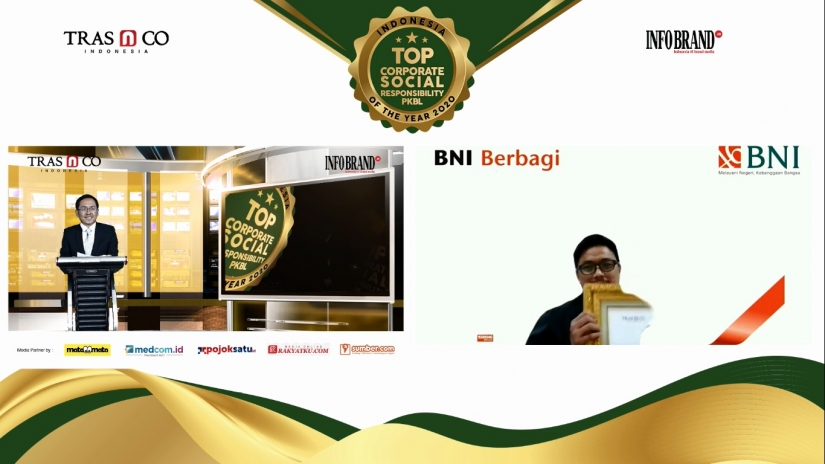 Salurkan Rp116,45 Miliar Dana Kemitraan, BNI Sabet Top CSR & PKBL of The Year 2020