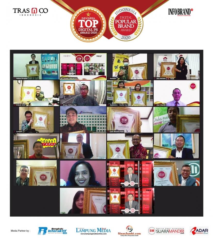 TRAS N CO Indonesia dan INFOBRAND Rilis Pemenang Indonesia Digital Popular Brand Award & TOP Digital PR Award 2020