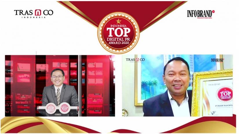 Perkuat Branding Digital, Bank Bukopin Raih Penghargaan Indonesia TOP Digital PR Award 2020