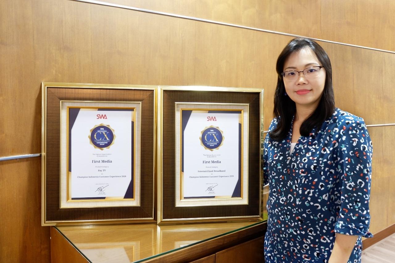 Hadirkan Pengalaman Berkualitas, First Media Sabet Indonesia Customer Experience Award 2020