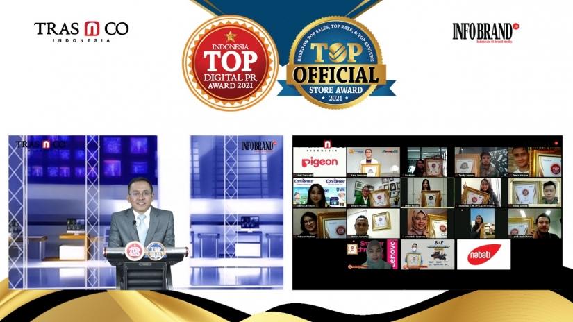 Jajaran Brand Ternama Raih Top Digital Public Relations (PR) Award 2021