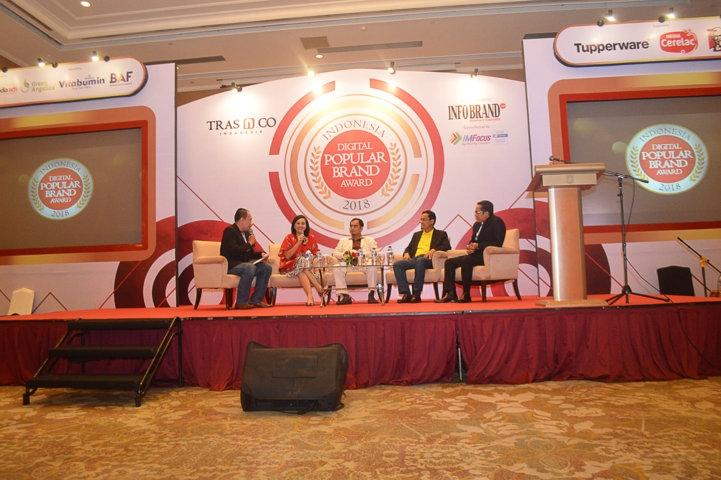 Talkshow Indonesia Digital Popular Brand Award 2018 bersama para Narasumber