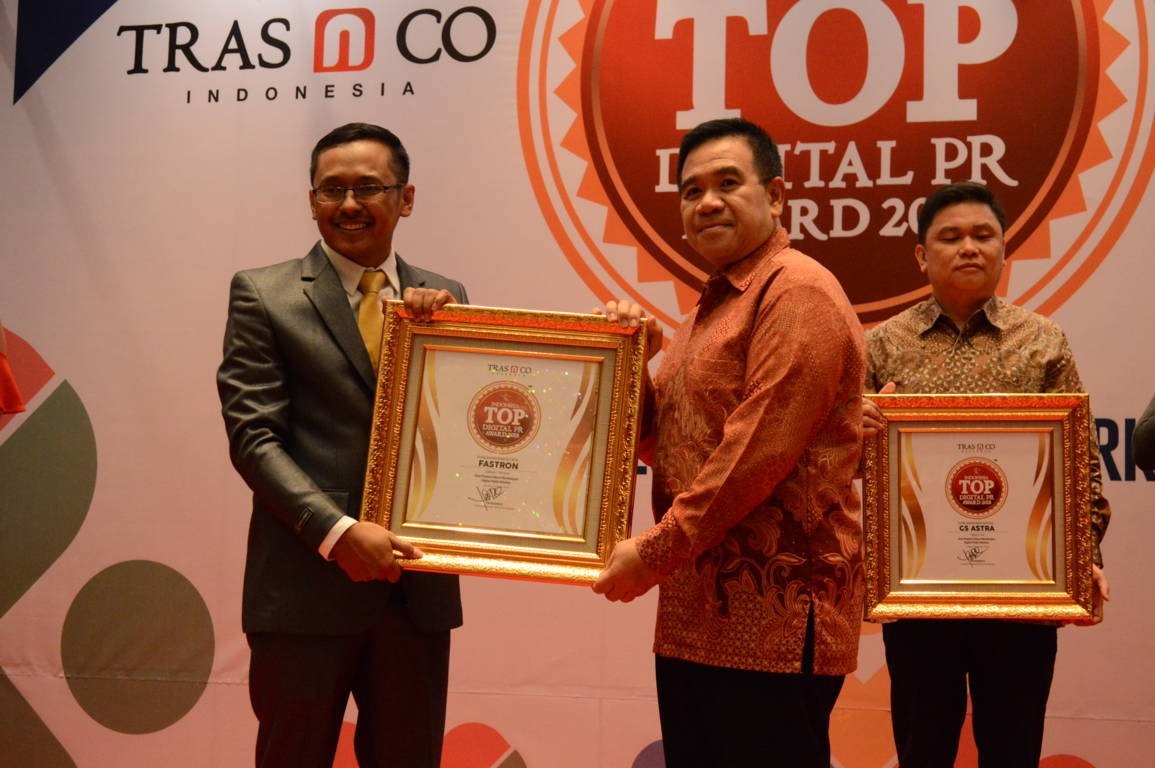 Fastron raih Indonesia Top Digital Public Relation