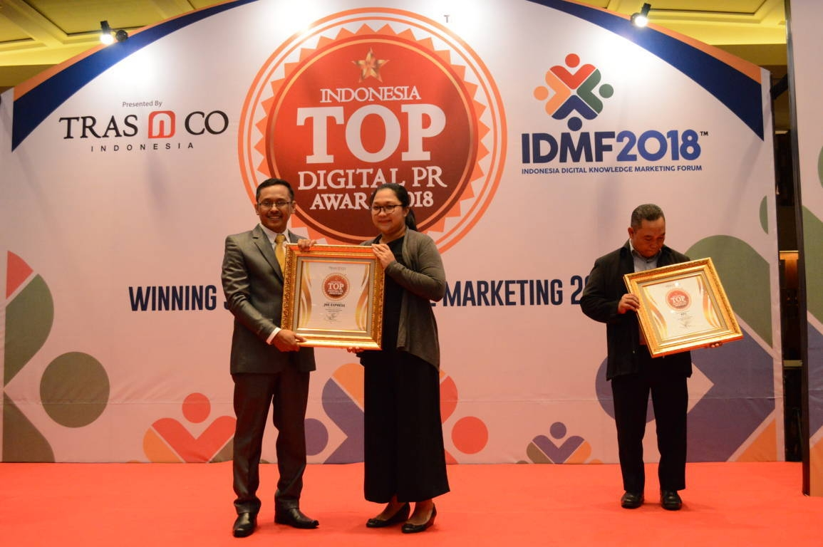 JNE raih Indonesia Top DIgital Public Relation