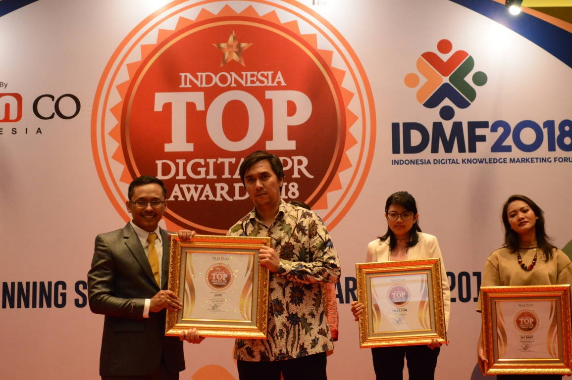 Lois raih Indonesia Top Digital Public Relation