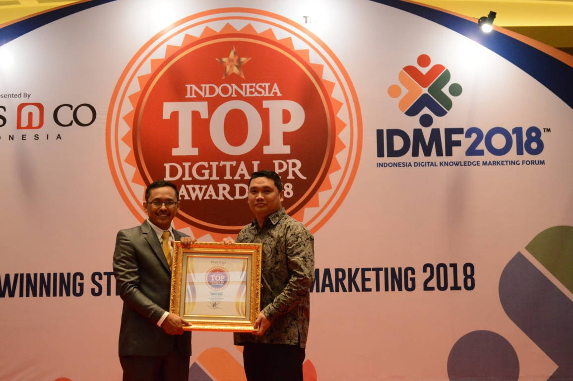 Vinilon raih Indonesia Top Digital Public Relation