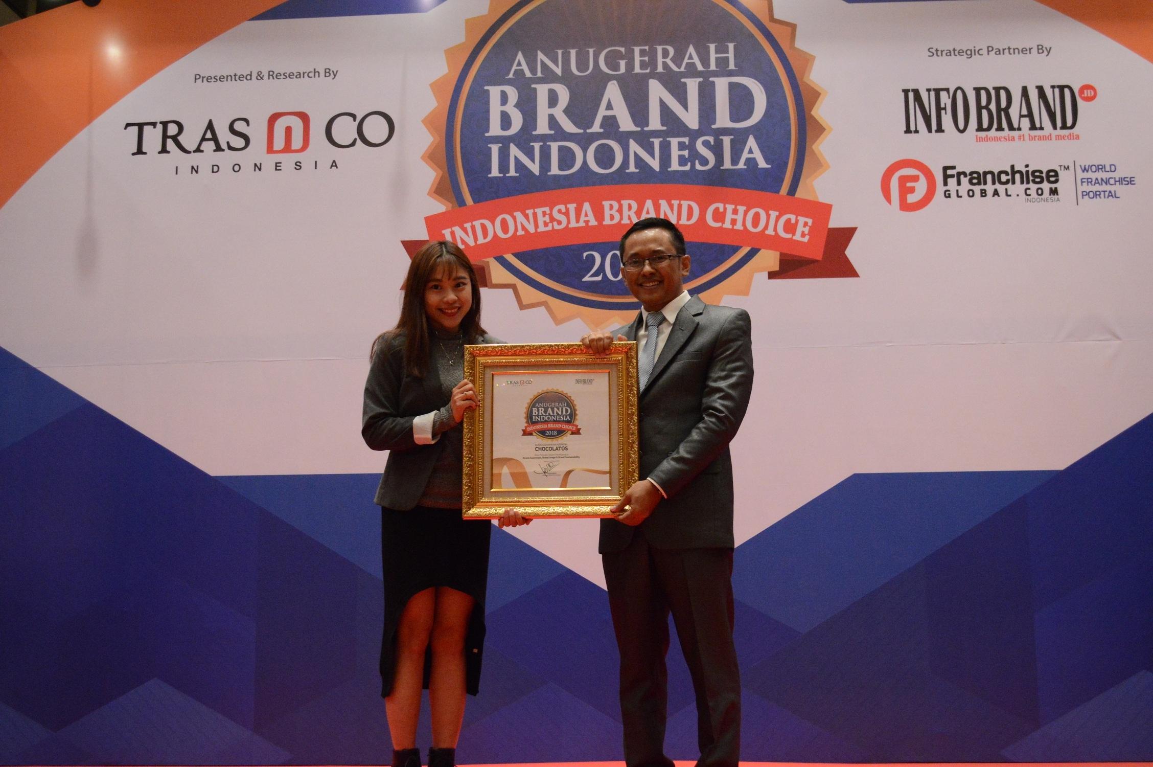 Chocolatos Raih Penghargaan Anugerah Brand Indonesia 2018