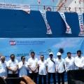Ke Batam, Menteri Rini Resmikan MV Dharma Lautan Intan Milik Djakarta Lloyd dan Kawal Program Padat Karya Tunai