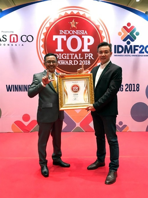Lenovo raih Top Digital Public Relations Award 2018