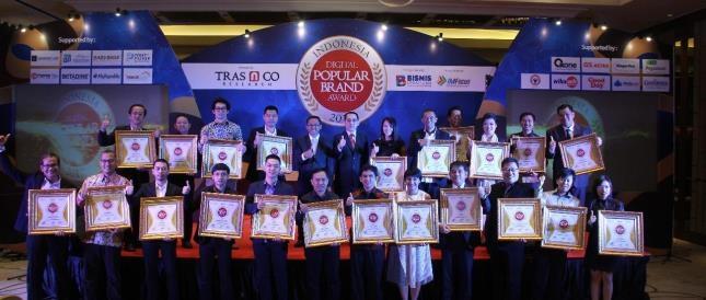 Para peraih Indonesia Digital Popular Brand Award