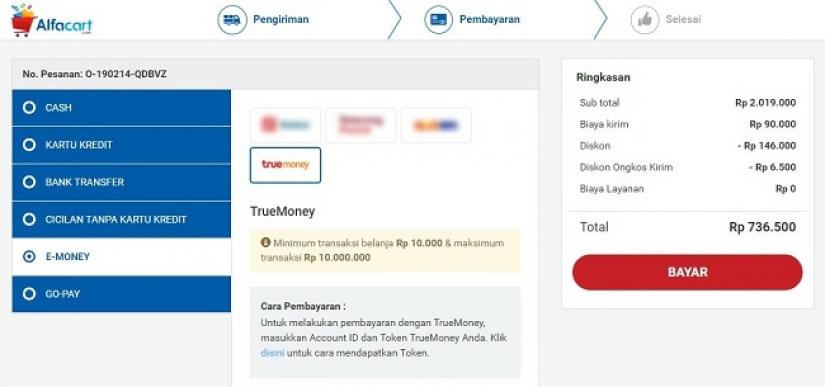 Pertama, Alfacart.com Kini Bisa Menerima Pembayaran dengan TrueMoney