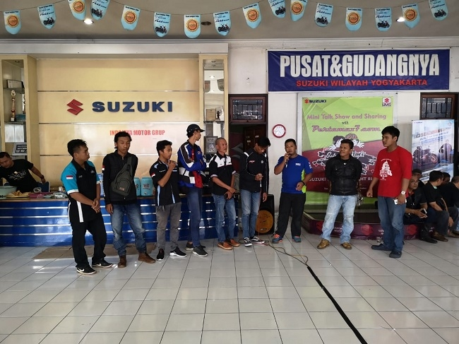 Antusiasme Ratusan Bikers Suzuki Yogyakarta, Meriahkan Tempat Wisata