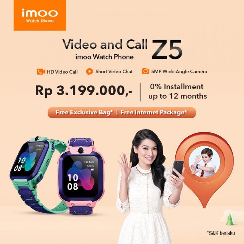 Imoo Watch Phone Seri Z5, Jam dengan Fitur HD Video Call