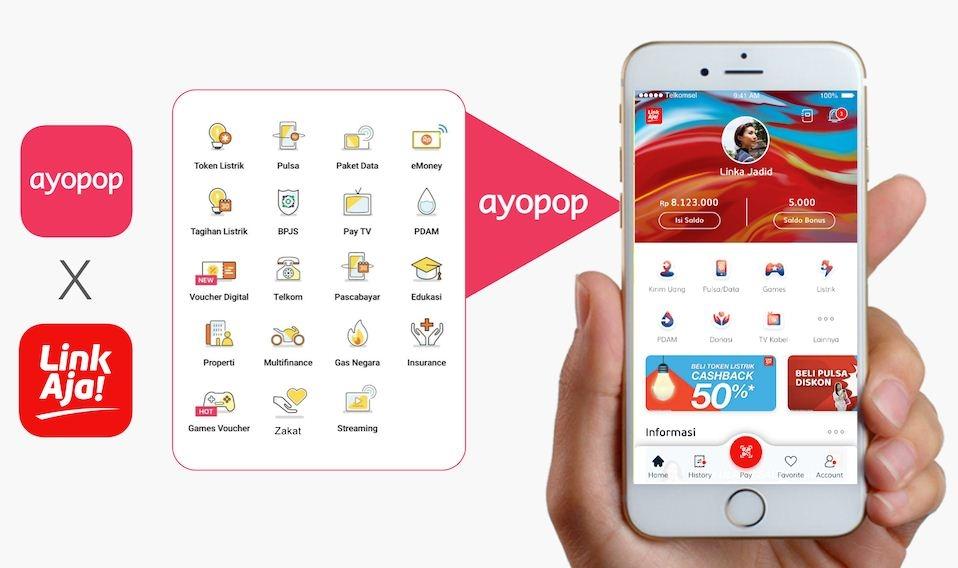 Ayopop Gandeng LinkAja Kembangkan Ekosistem Digital di Indonesia