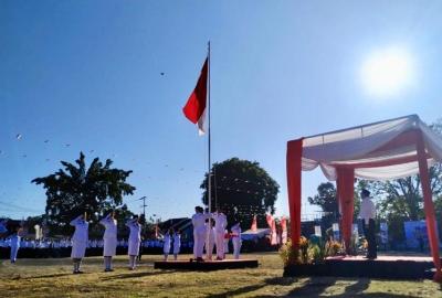 PT Wika dan Ratusan Karyawan BUMN Se-Sulut Peringati HUT KE-74 RI