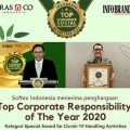 Aktif Perangi COVID-19, Softex Raih Indonesia Top Corporate Social Responsibility of The Year 2020