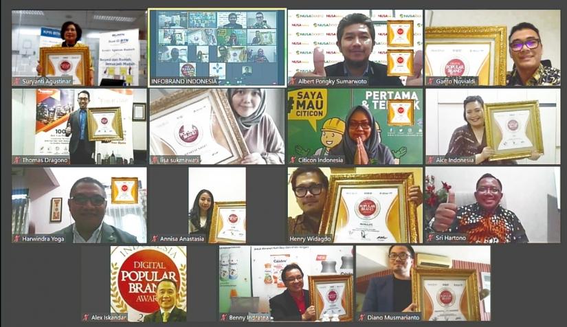 Merek-merek Champion  Indonesia Digital Popular Brand Award 2020 di Era New Normal
