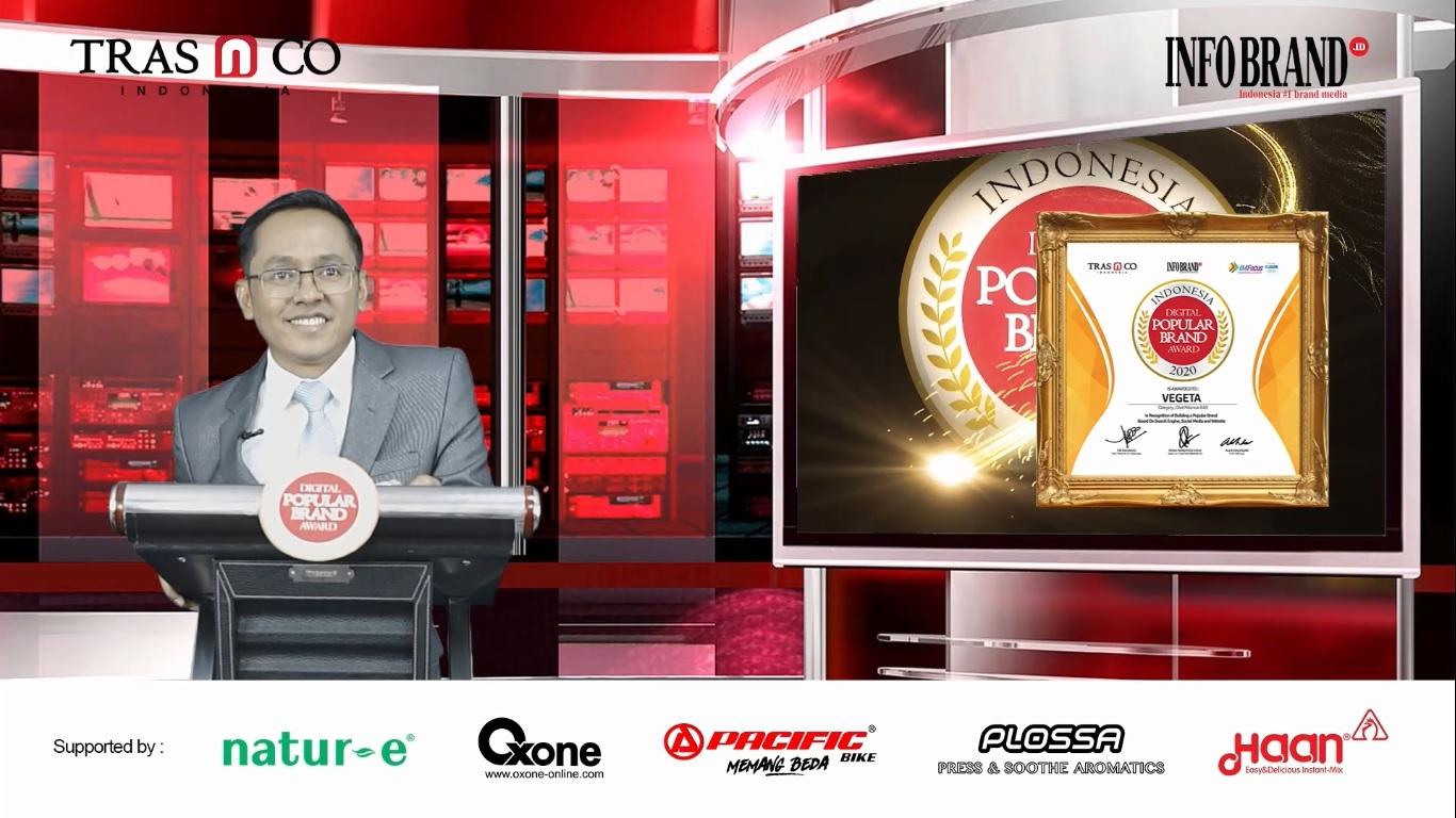 Miliki Penggemar Lebih dari 350 Ribu Netizen, Vegera Sabet Indonesia Digital Popular Brand Award