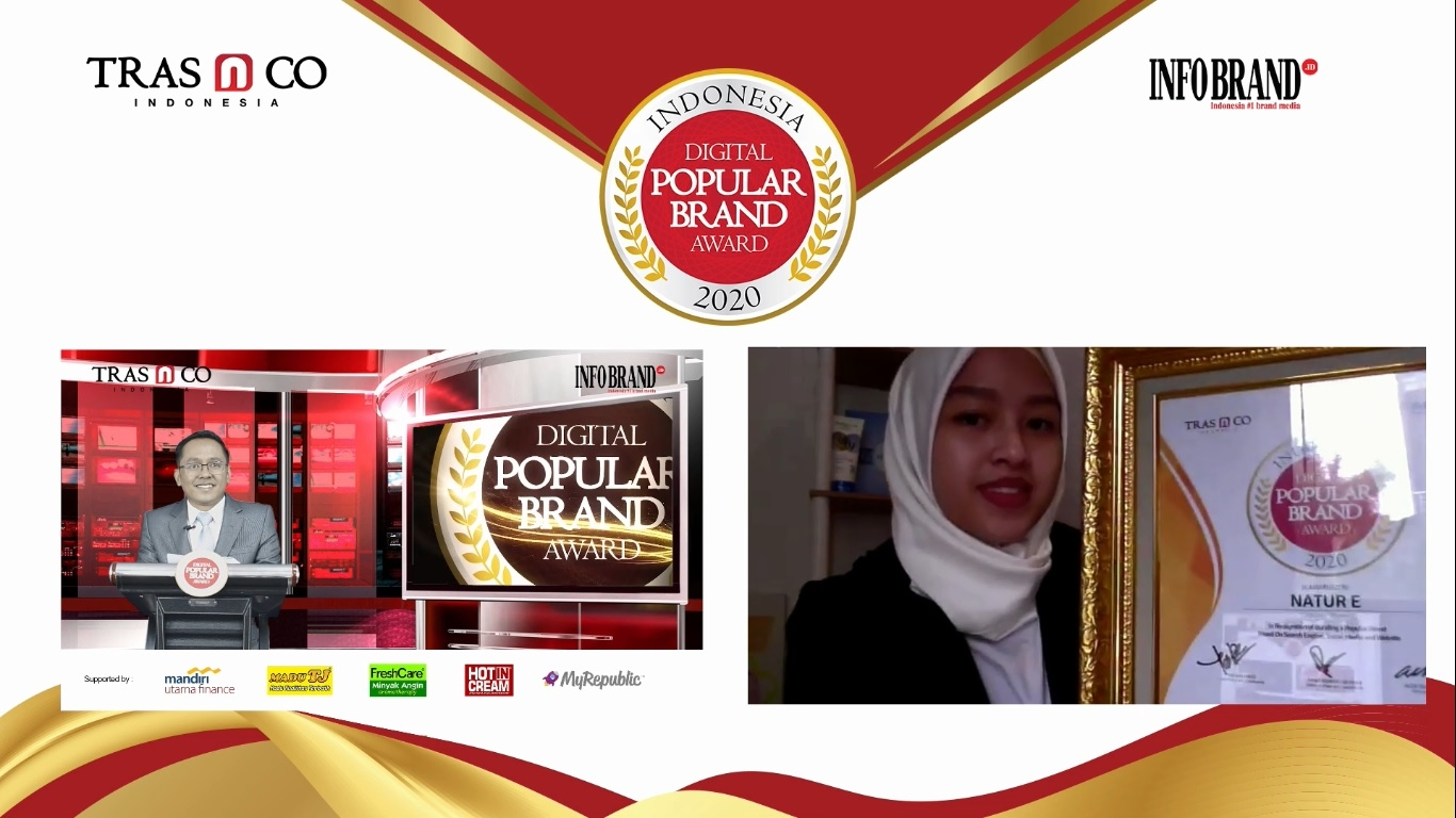 Miliki 2 Juta Pengikut Medsos, Natur-E Raih Indonesia Digital Popular Brand Award 2020