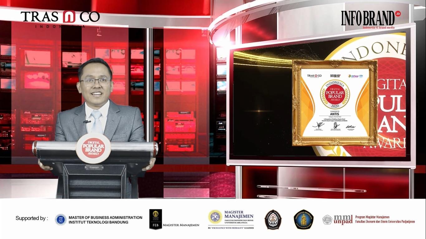 Miliki 750 Ribu Followers Instagram, Antis Raih Indonesia Digital Popular Brand Award