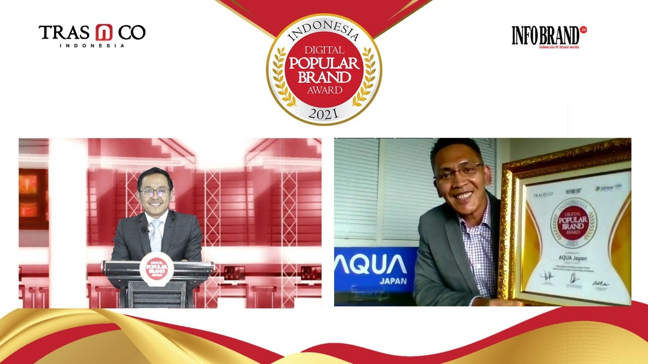 Makin Populer di Ranah Digital, Lemari Es AQUA Japan Raih Indonesia Digital Popular Brand Award 2021