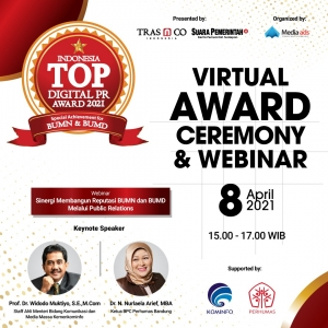 TRAS N CO Bersama SuaraPemerintah.id Gelar TOP Digital Public Relations Award Khusus BUMN dan BUMD