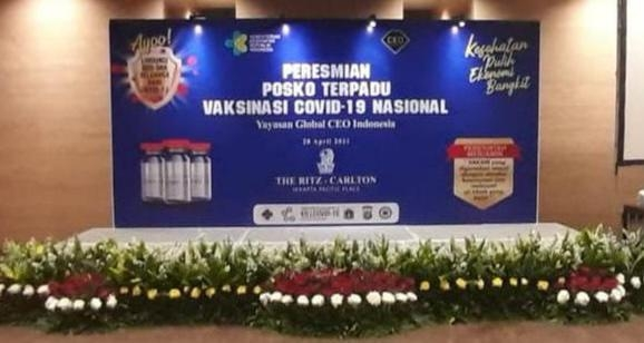 Sukses Gelar Vaksinasi Massal di 50 Titik, CEO Indonesia Resmikan Posko Terpadu