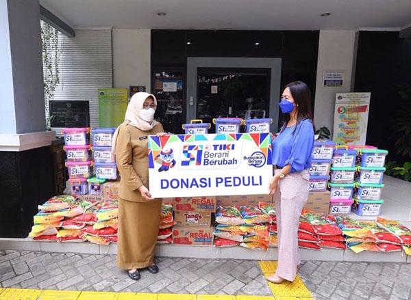 Donasi Peduli, TIKI Bagikan 1.000 Paket Sembako Kepada Masyarakat